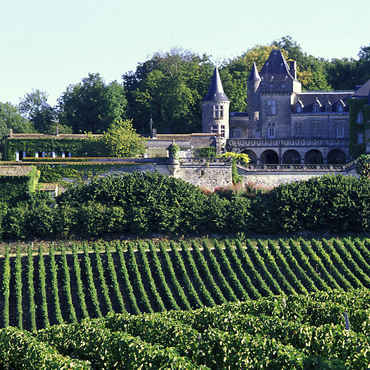 The Bordeaux wine region