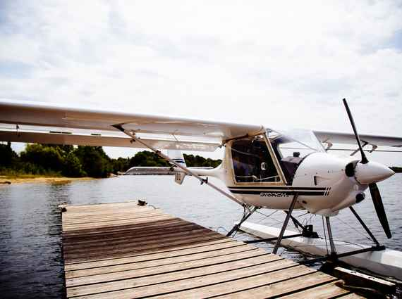 Fly on a seaplane